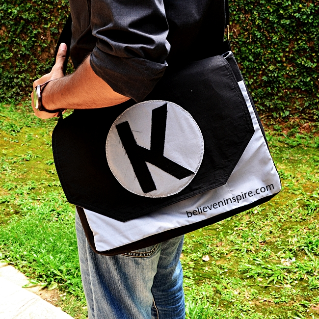 Sewing Tutorial: Monogrammed Man Bags on believeninspire.com