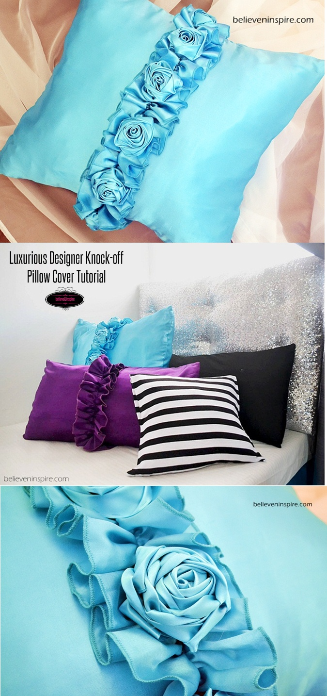 Luxurious Designer Knock-off Pillow Cover Tutorial