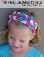 Easy Flowered Headband Tutorial for Kids