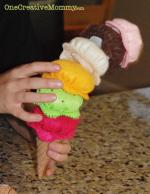 Felt Ice Cream Tutorial with Free Pattern