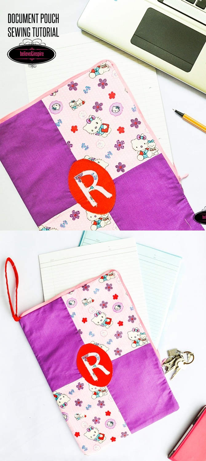 How to Sew a File Pouch on believeninspire.com 1