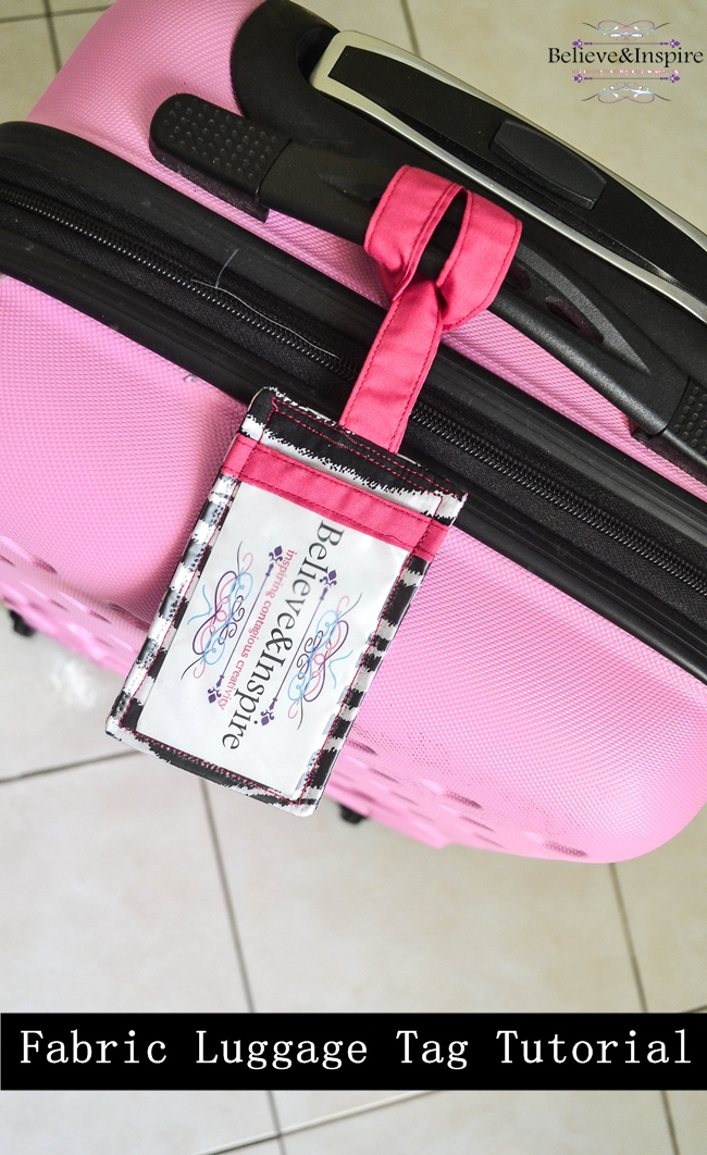 How to make homemade fabric luggage tags