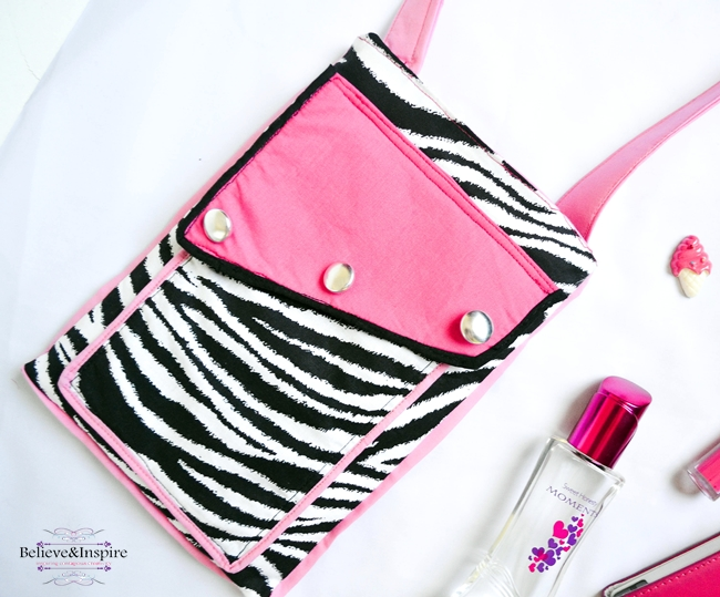 Travel crossbody bag tutorial on believeninspire cg2blog