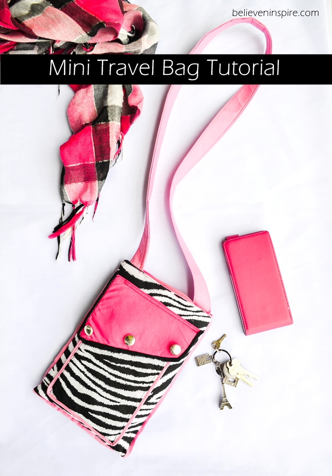 Travel crossbody bag tutorial on believeninspire.com 1