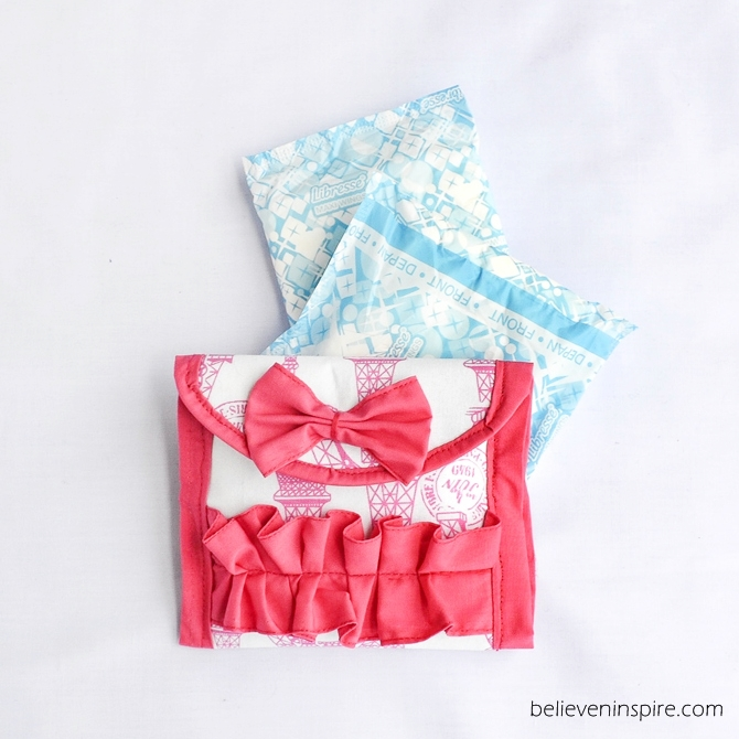 How to Make a Sanitary Napkin Pouch believeninspire.com