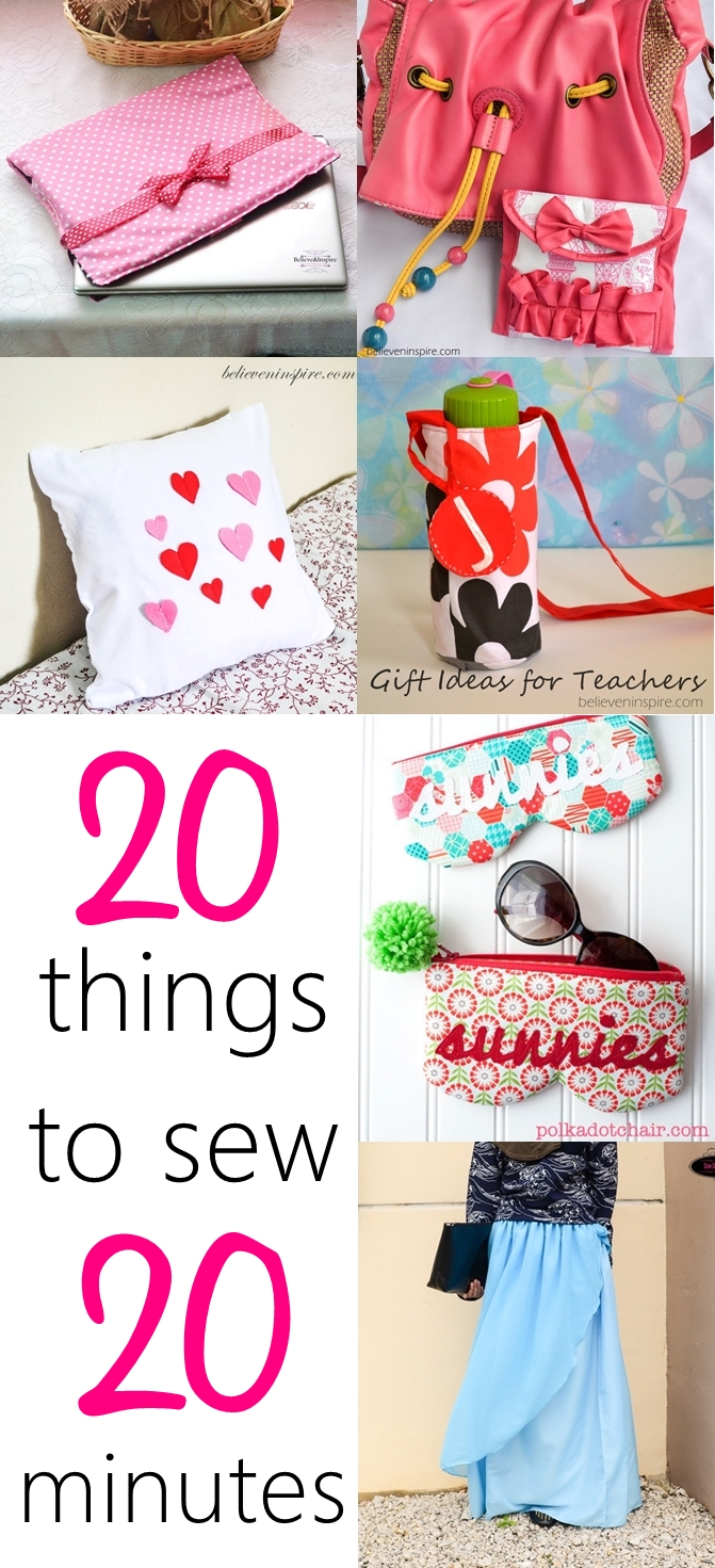 Easy sewing projects. Beginner sewing tutorials. Simple sewing projects. Fat quarter projects