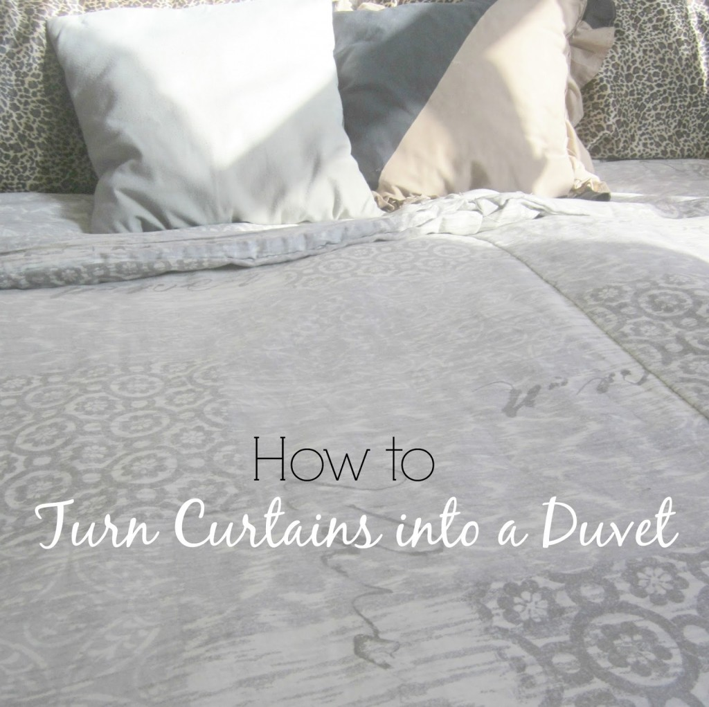 Up-cycled Project - Curtains to Duvet Tutorial