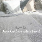 Up-cycled Project – Curtains to Duvet Tutorial