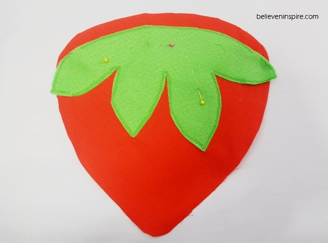 how to sew strawberry pot holders on