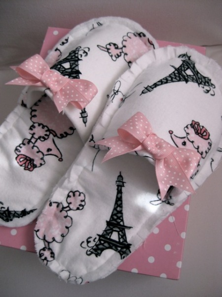 French slippers free sewing pattern