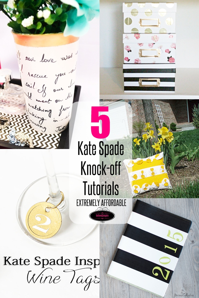 5 Kate Spade Home Decor Knock-off Tutorials on sewsomestuff.com Love Kate Spade but don't want to splurge dollars on the store? No worries! Here are some great knock-off tutorials to make your house look gorgeous. Get them all here now!