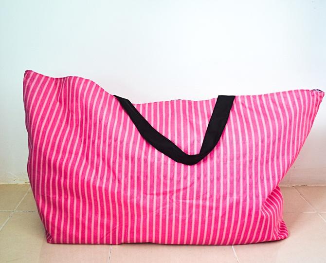 Easy Gigantic Reversible Laundry Bag Tutorial