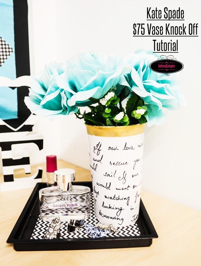Kate spade DIY flower vase on believeninspire.com 101