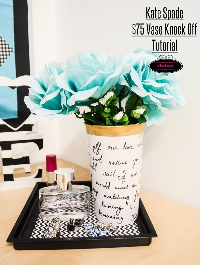 Kate spade DIY flower vase on believeninspire.com