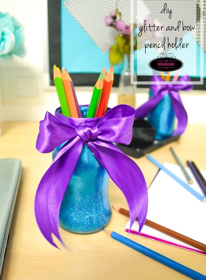 Pencil Holders from Old Jam Jars on believeninspire.com5