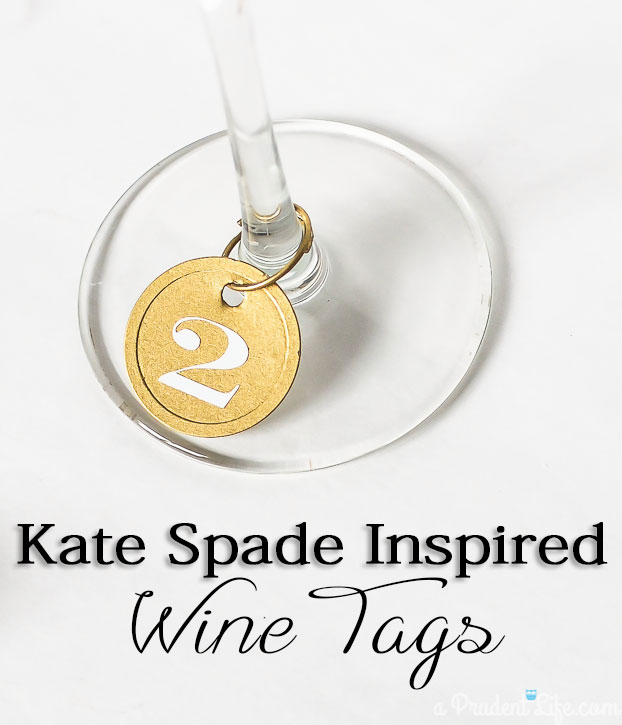 Kate Spade Inspired Wine Charms