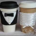 Bride and Groom Coffee Sleeves Sewing Pattern