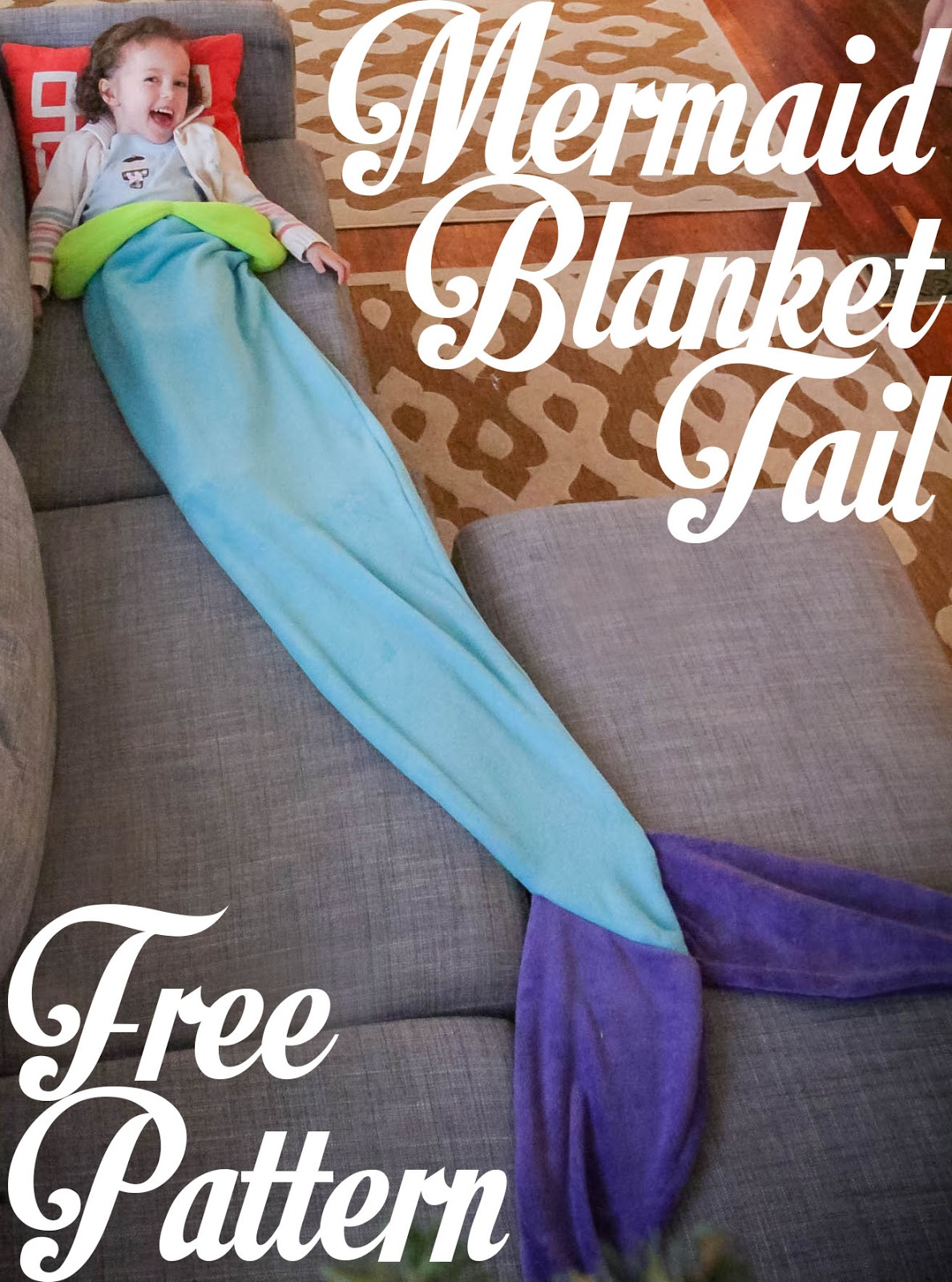 Mermaid Tail Blanket: Free Pattern