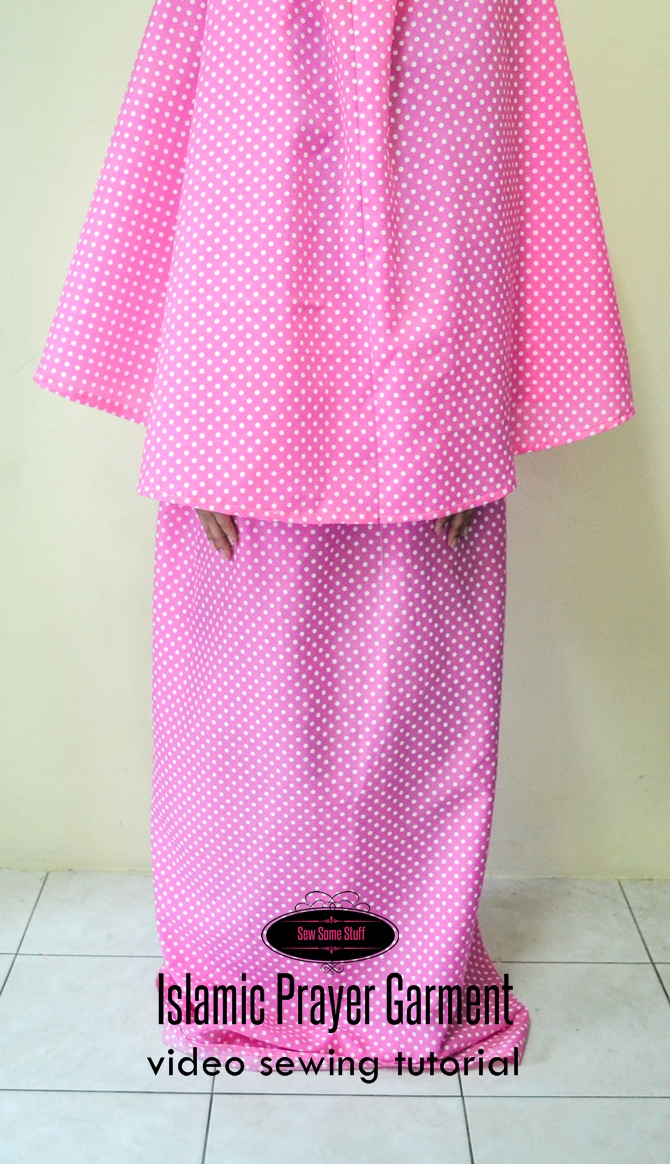 Islamic Prayer Garment sewing tutorial on sewsomestuff.com 2