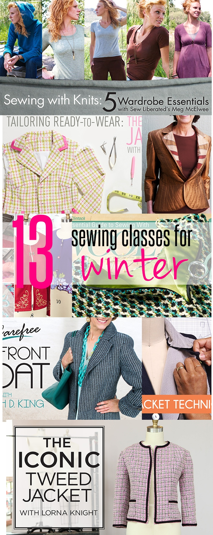 13 sewing classes for winter on sewsomestuff.com