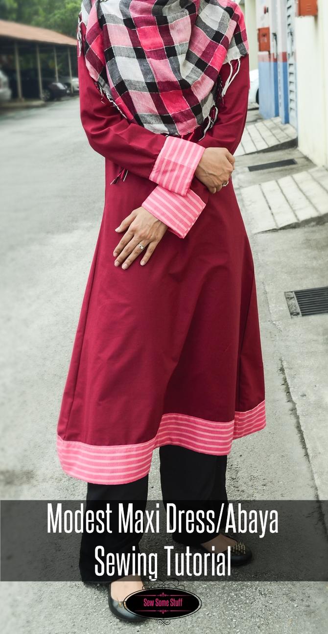 Modest Maxi Dress/Abaya Sewing Tutorial