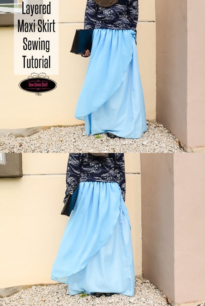 Enchanted Layered Chiffon Maxi Skirt Tutorial - Sew Some Stuff