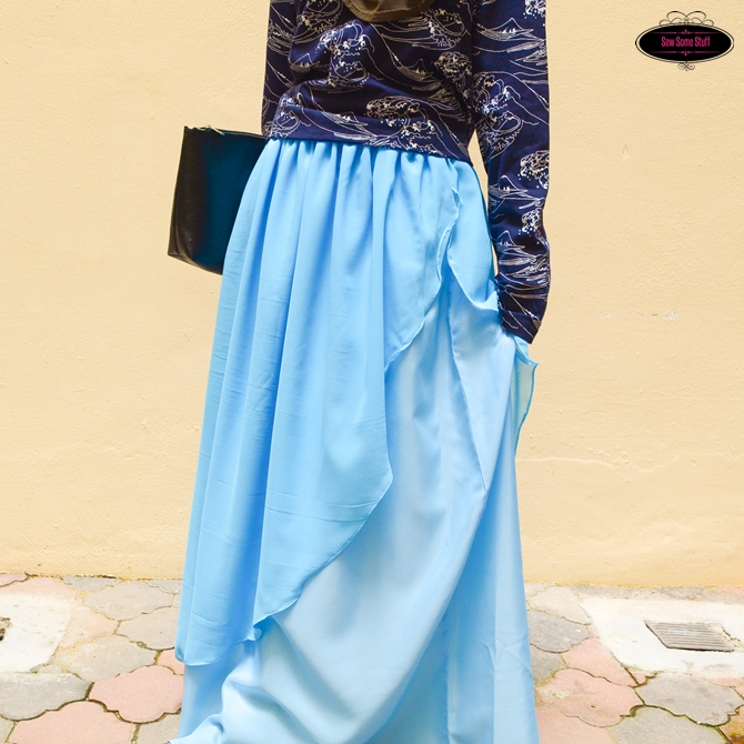 Enchanted Layered Chiffon Maxi Skirt Tutorial4
