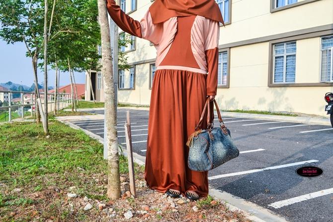 DIY Abaya from Bat Sleeve Blouse Pattern and Tutorial on sewsomestuff.com