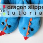 Winter Sewing – Kids Dragon Slippers Tutorial