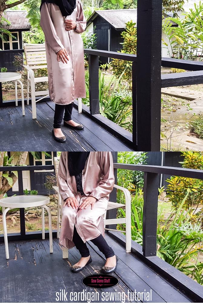 silk cardigan sewing tutorial on sewsomestuff.com
