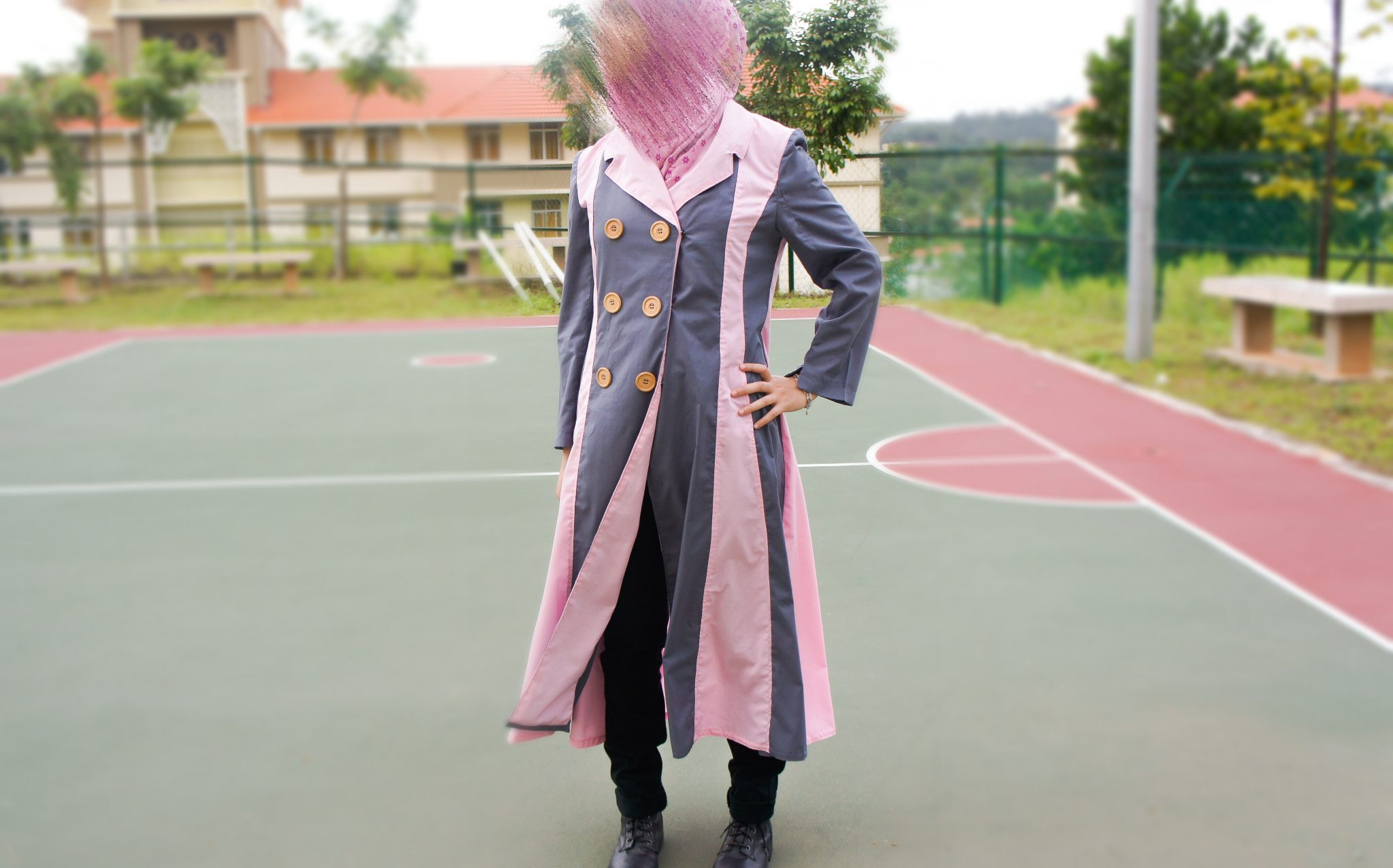 Coat style abaya sewing tutorial on sewsomestuff.com
