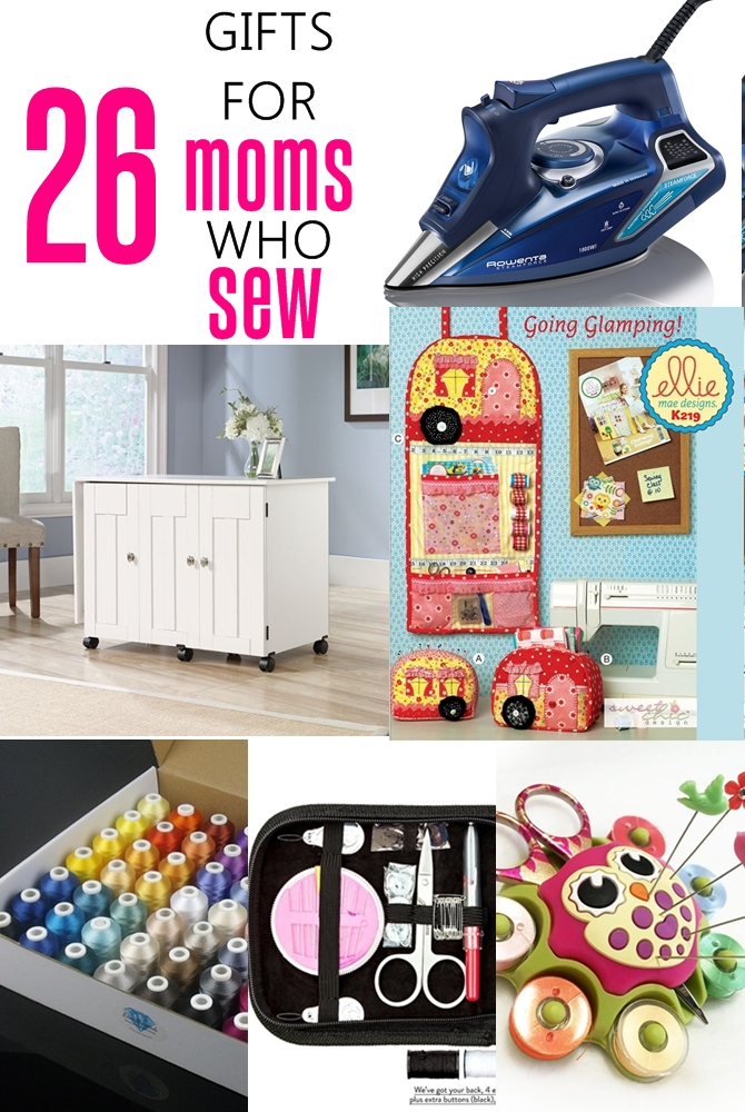 26 gifts for people who sew on sewsomestuff.com. This list of gift ideas for SEWING MOMS or other people who sew is PERFECT! There are ideas for EVERY budget. Totally going to refer to this list for my next gift shopping for people who sew or beginner sewers.