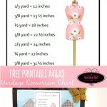Yardage Conversion Chart Free Printable