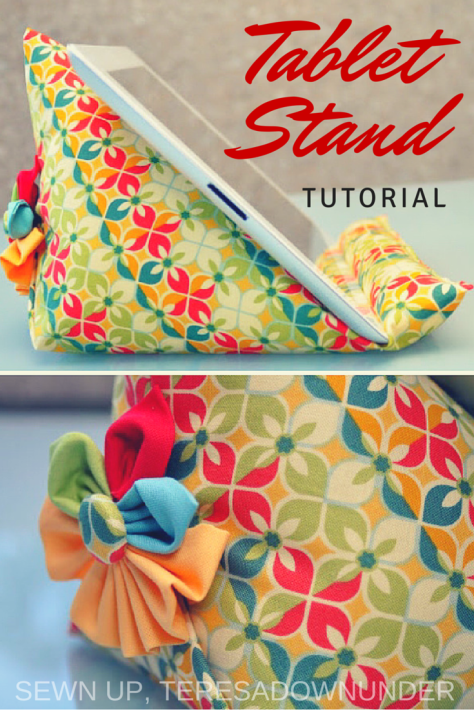 Tablet stand sewing tutorial