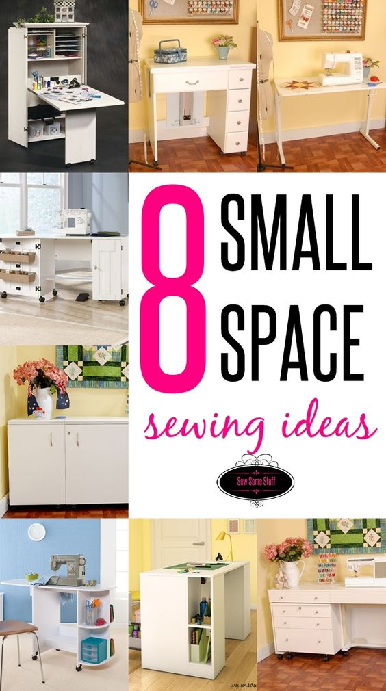8 wonderful sewing room ideas for small spaces sew some stuff - Small space sewing area style ...