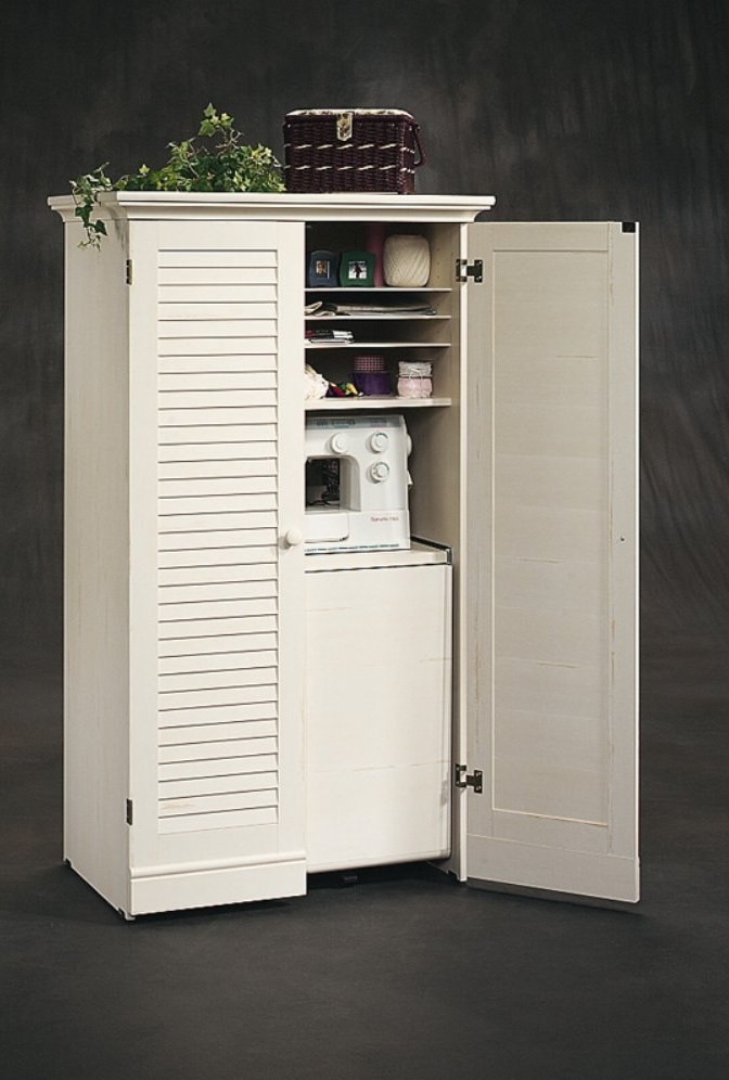 Sewing armoire cabinet