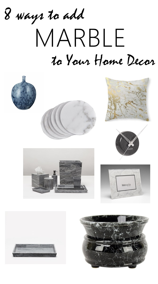 8 simple ways to add marble to your home decor