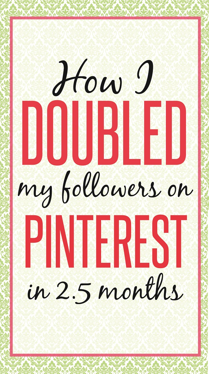 How I doubled my pinterest followers in 2.5 months. Struggling to grow your Pinterst followers? Tired of putting all your effort without any changes? Or are you a new blogger looking to grow real quick? CHECK out this post where I share my tools and strategies that I used to DOUBLE my followers in 2.5 months. READ NOW!
