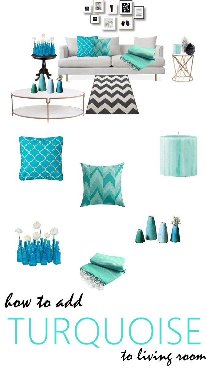 Turquoise Accent Pieces For Living Room