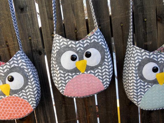 Little Girl Owl Crossbody Purse