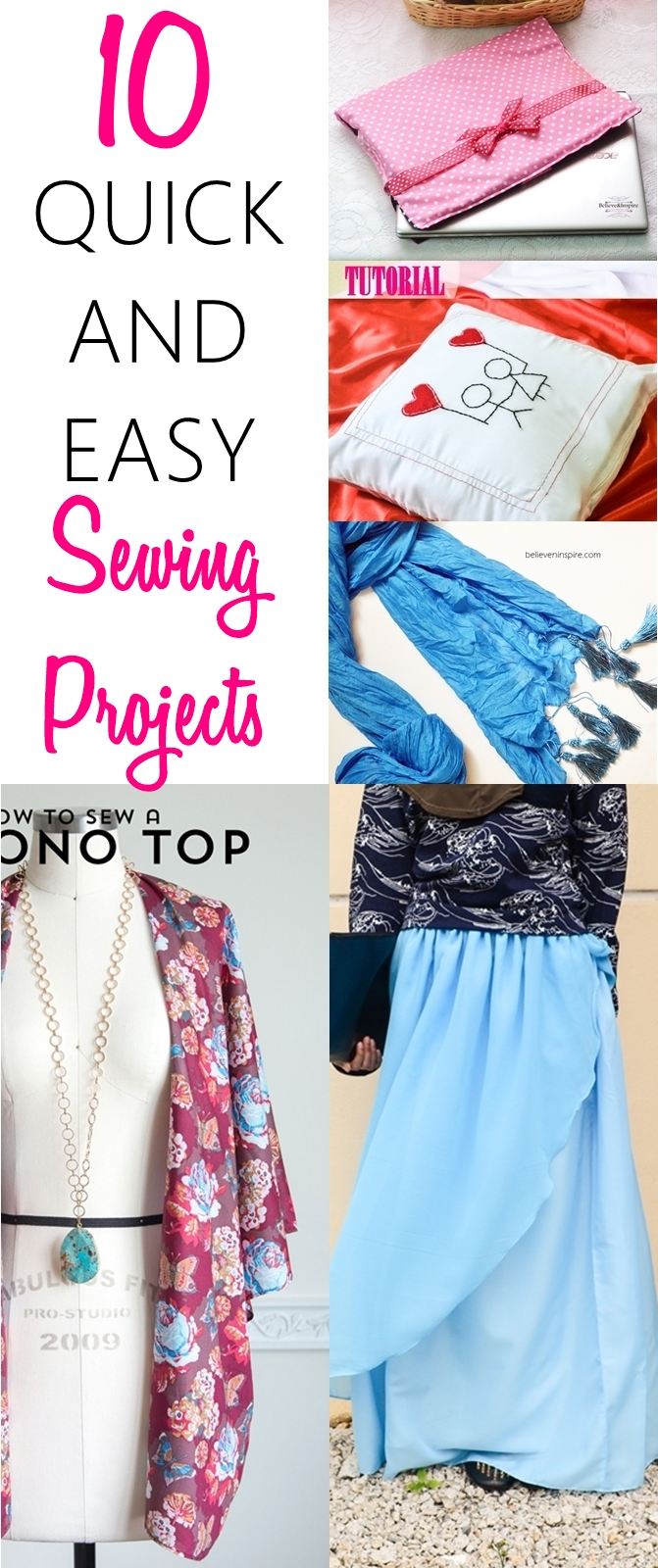 beginner sewing projects | easy to sew | sewing for beginners | quick and easy sewing projects