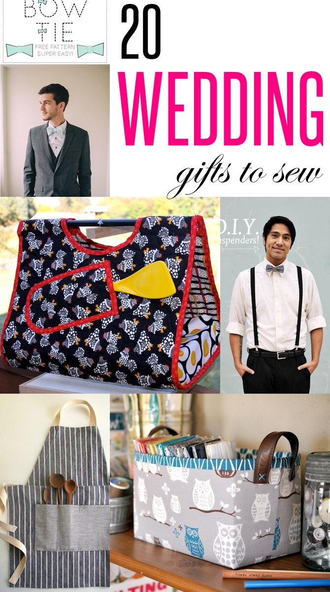 Diy Wedding Gift Ideas For Bride And Groom : 20 Wedding gifts to sew. These DIY practical wedding gift ideas are a ...