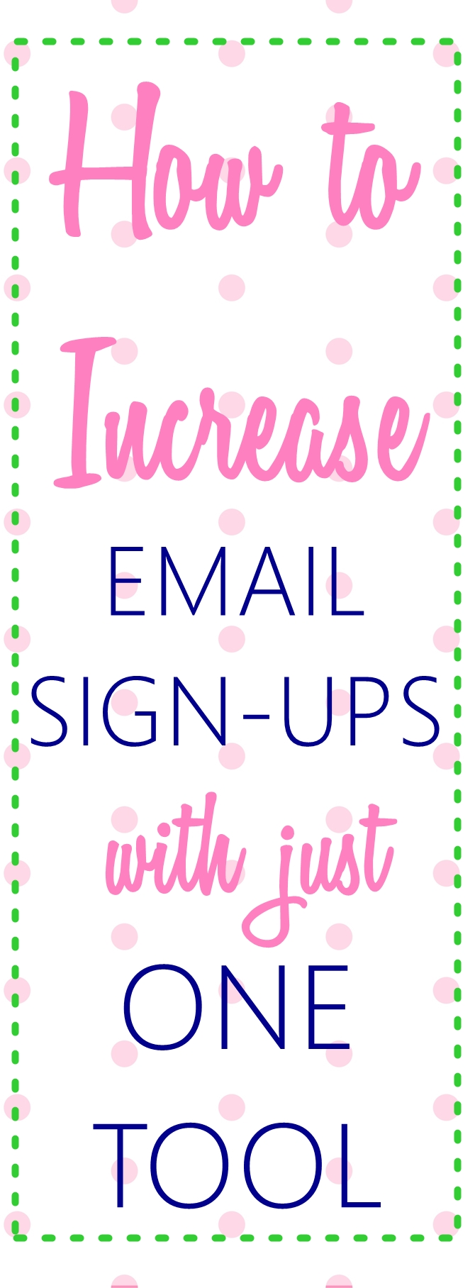 How to get more email subscribers with JUST one tool on sewsomestuff.com