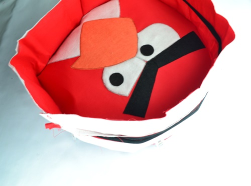 How to sew an angry birds bag on sewsomestuff.com12