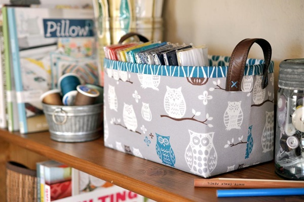 Sturdy fabric basket
