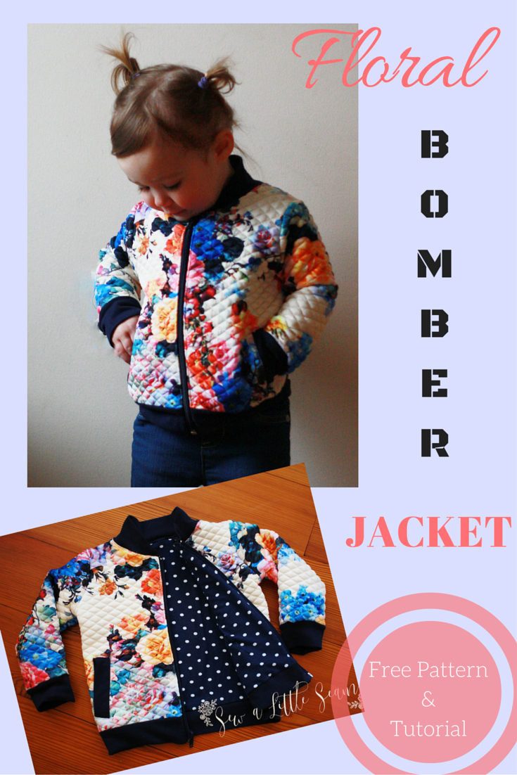 Bomber jacket for toddlers free pattern and tutorial