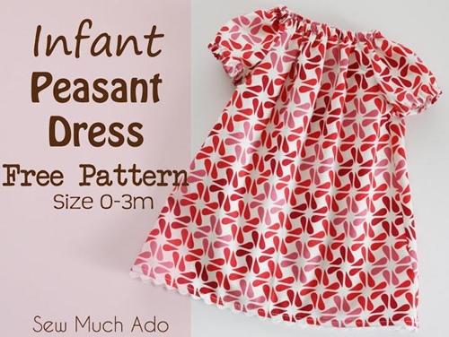 Infant peasant dress pattern