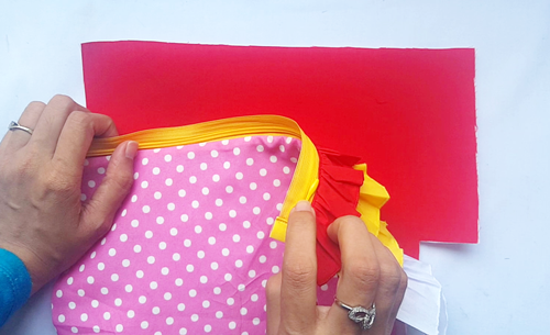 Ombre ruffle pouch sewing tutorial113