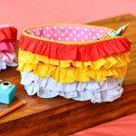 Gorgeous Ombre Ruffle Zipper Pouch Tutorial with VIDEO