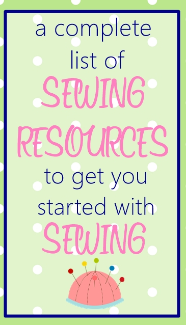 Sewing resources list for beginners on sewsomestuff.com2